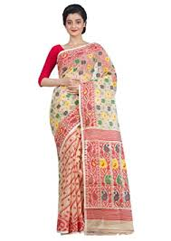 dhakai jamdani rlbfashion women s cotton silk handloom dhakai jamdani saree