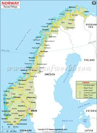 Scandinavia Blank Map by Road Map