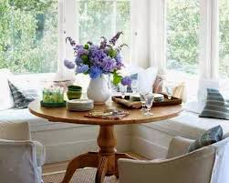 banquette with round table furniture dining breakfast nook country round table bay windows