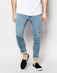 super light wash jeans asos brand extreme super skinny jeans in light wash where to buy