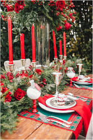 awesome elegant christmas decorations with rustic dining table f