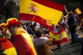 Barcelona Spain Flag Spanish Twitter Slams Columbus Holiday As U0027nothing To Celebrate U0027