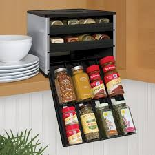 decorating enticing spice rack for cabinet kitchen installation