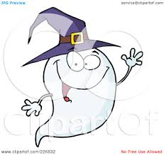 royalty free rf clipart illustration of a cute halloween ghost