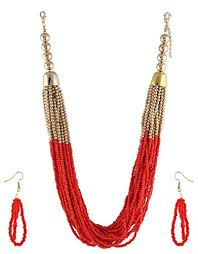 colour beads necklace images Buy anuradha art red colour stylish beads styled classy trendy jpg