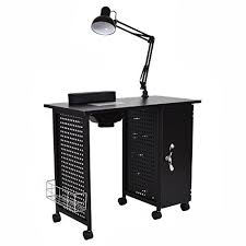 manicure nail table station giantex manicure nail table station black steel frame beauty spa