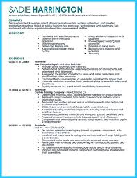Sample Resume For Production Worker by Professional Assembly Line Worker Resume To Make You Stand Out
