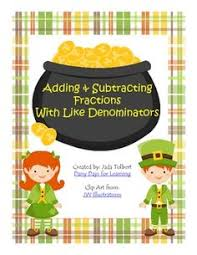 adding and subtracting fractions with like denominators maths