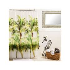 Zoological Shower Curtain Splash Home Palm Tree Shower Curtain Green Tree Shower Curtains