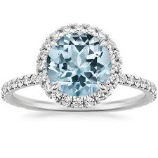 aquamarine and diamond ring aquamarine engagement rings brilliant earth
