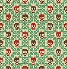 seamless pattern with skull and ethnic mexican elements day of