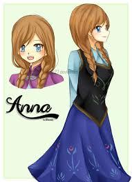 imagens da anna como anime pesquisa google princesas como
