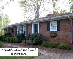 Curb Appeal Photos - giving a basic brick ranch curb appeal and more hooked on houses