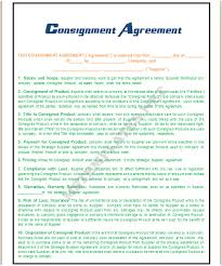 reseller contract template consignment agreement template
