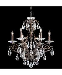 Crystal And Bronze Chandelier Schonbek Fe7006 Filigrae 23 Inch Wide 6 Light Chandelier Capitol