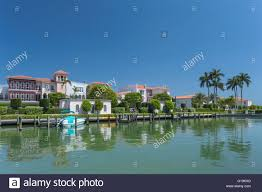 Naples Florida Luxury Homes by Luxury Homes Inner Doctors Bay Naples Florida Usa Stock Photo