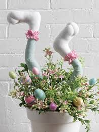raz easter decorations bunny leg centerpiece by raz easter bunny and legs
