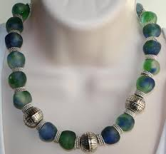 handmade statement necklace images African recycled glass statement necklace by 123gemstones on zibbet jpg