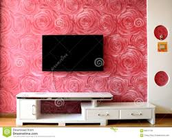 bedroom tv setting wall chinese family living room pink awesome