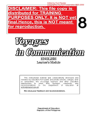 grade 8 english learner u0027s material pdf complete reading
