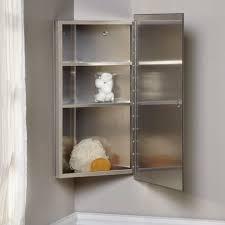 Corner Cabinet Bathroom Carrington Stainless Steel Corner Medicine Cabinet U2022 Corner Cabinets