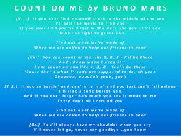 Bruno Mars Count On Me With Lyrics Count On Me Bruno Mars