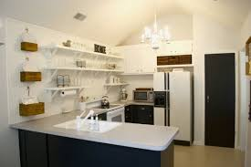 Kitchen Without Upper Cabinets by Remodelaholic How To Diy A Custom Range Hood For Under 50
