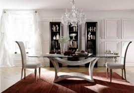 chic dining room unique and large dining table completed with elegant chairs and