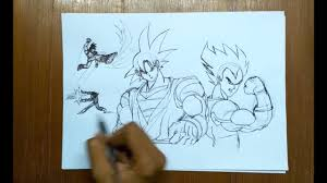 pen sketching dragon ball z characters youtube