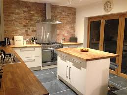 kitchens with island solid oak kitchen island