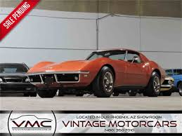 1968 chevrolet corvette for sale 1968 chevrolet corvette for sale classiccars com cc 1024147