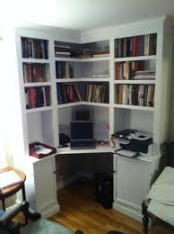 charming corner desk with shelves cornerbuiltindeskideas built in