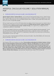 apostol calculus volume 1 solution manual documents