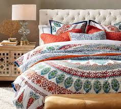 Duvet Vs Duvet Cover Aurora Duvet Cover U0026 Sham Cool Multi Pottery Barn
