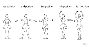 ballet positions coloring free printable coloring pages