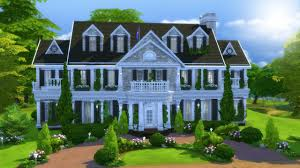 colonial mansion colonial mansion the sims 4 speed build youtube