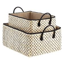 Storage Ideas awesome woven storage bins Plastic Weave Bins