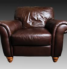 Upholstered Armchair by Italsofa Brown Leather Upholstered Armchair Ebth