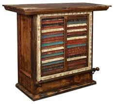 Distressed Wood Bar Cabinet Distressed Reclaimed Wood Wine Cabinet With Rack And Pertaining To