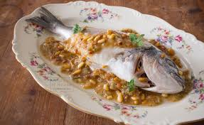 dorade cuisine sea bream with dates cumin pine nuts cookbook of apicius