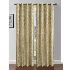 Yellow Faux Silk Curtains Window Elements Semi Opaque Camille Printed Faux Silk 84 In L