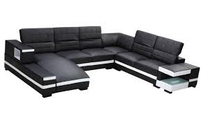 Modern White Sectional Sofa by 2017 Popular Black And White Sectional Sofa
