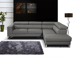 canap cuir gris ahurissant canape cuir angle photos canap dangle cuir gris idées