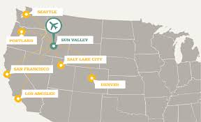 Slc Airport Map Find The Unbeaten Path To Sun Valley Idaho This Winter