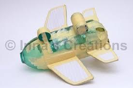 inna u0027s creations make a papier mache airplane using a water bottle
