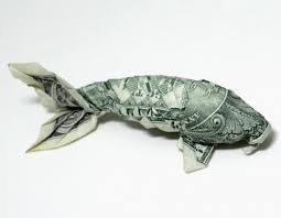 Origami Koi Fish Dollar Bill - money origami the koi fish