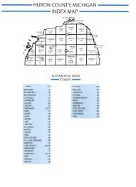 Mi County Map Huron County Michigan Community Info