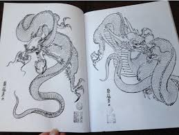 2018 100 dragons painting designs tattoo book by horimouja jack