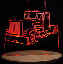 led lights for semi trucks semi truck peterbilt acrylic lighted edge lit led sign light up
