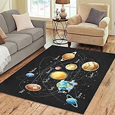 Outer Space Rug Amazon Com Kids Area Rug Solar System Design 5 Ft X 7 Ft